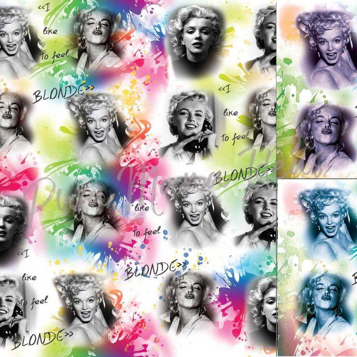 """Diseño """"Marilyn Monroe"""", diseño exclusivo de Pura Maña Ideas, de la línea Mujeres."""
