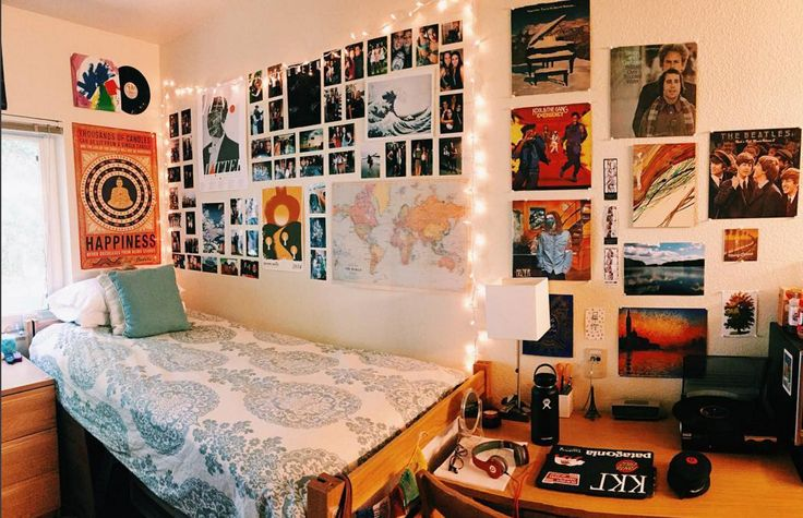 Santa Clara dorm room inside Campisi Residence Hall