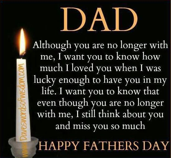 I love you and miss you daddy. Happy Father's Day to you in Heaven