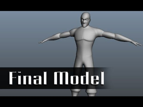 Modeling a Character in Maya - 10 of 10