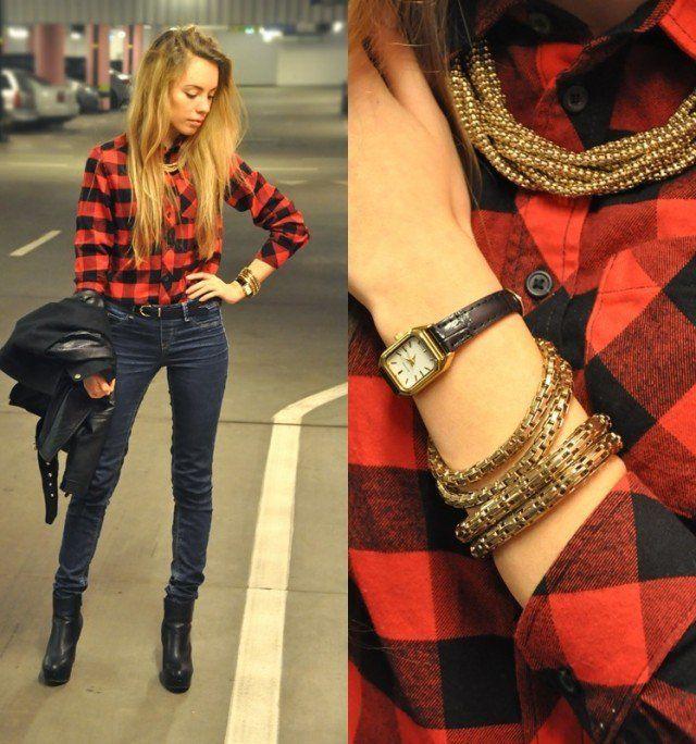 Kırmızı Ekose Gömlek Nasıl Giyilir? - Kadın Moda Trendleri, Güzellik Sırları, Giyim & Aksesuar ModaStilisti.Com