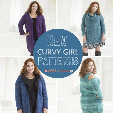 New Lion Brand Patterns: Plus Size Crochet & Knit Patterns | Stitch and Unwind