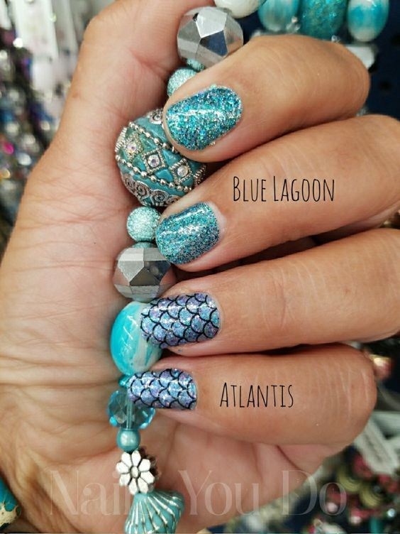 Nails Colorstreet Mermaid Blue Sexy Order Color Street Pretty Pixels Polish In 2019