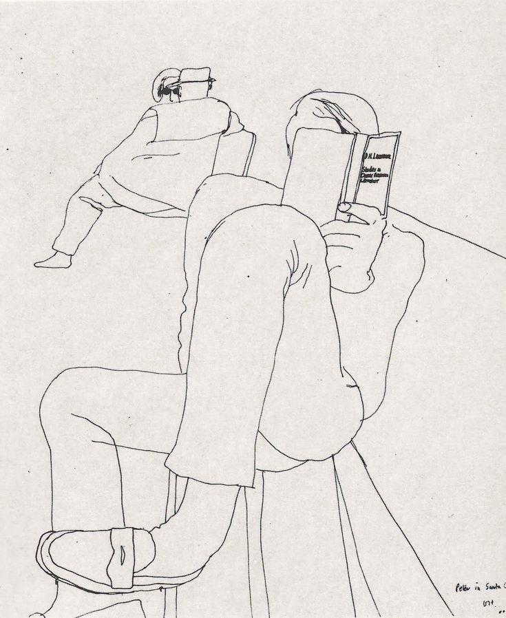 Peter in Santa Monica, drawing by David Hockney