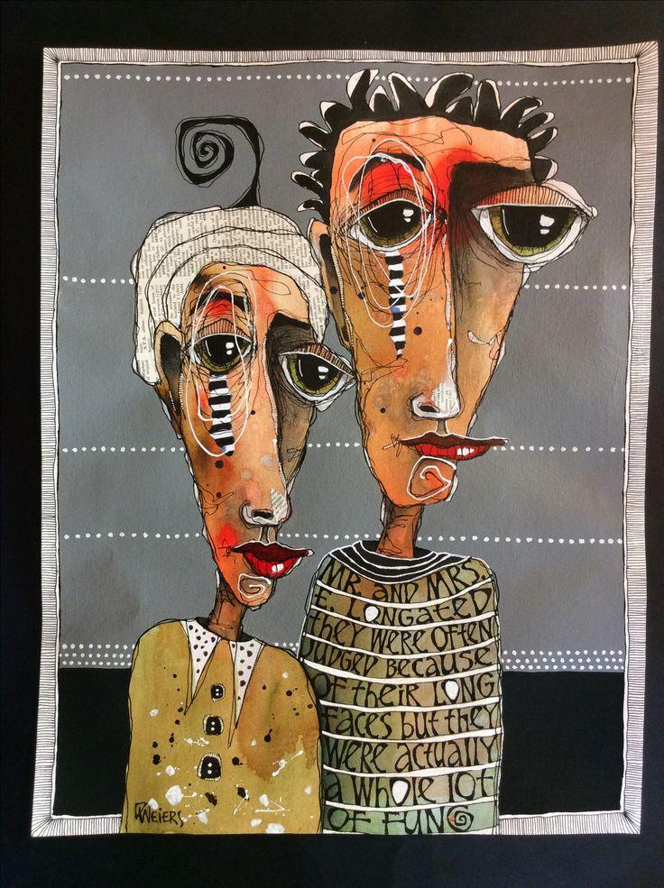 "Deb Weiers - Mr. & Mrs. E. Longated 14x18"""
