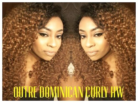 Outre Dominican Curly Half Wig - YouTube