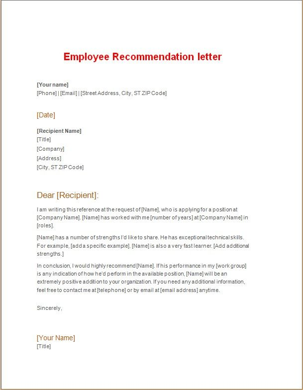 The 25+ best Employee recommendation letter ideas on Pinterest - sample job recommendation letter
