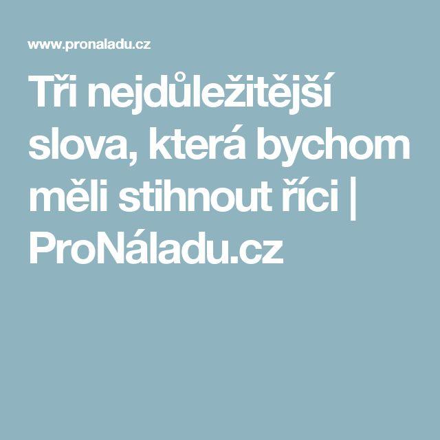 Tři nejdůležitější slova, která bychom měli stihnout říci | ProNáladu.cz