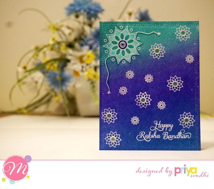 "64 Likes, 5 Comments - Priya-n-papers (@priyanpapers) on Instagram: ""Mudra July Release DT inspiration -  Card 1 - Made Raksha Bandhan cards using Brother Stamp set.…"""