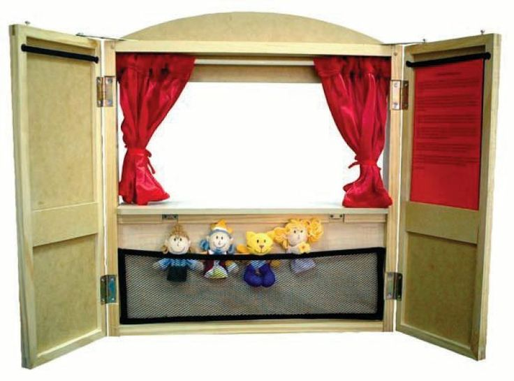 diy table top puppet theater | Table Top Puppet Theater - Includes 4 finger puppets