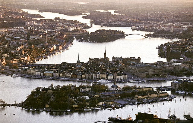stockholm from above, sweden