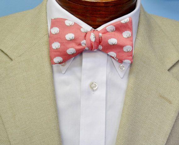 Katoen Boll mannen strikje roze strikje strikje door BarryBeaux