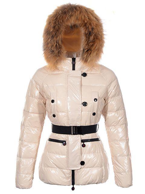 Women Moncler Gene Fur Collar Khaki Down Jacket [2899903] - £153.69 : 5% off discount code: happywinter