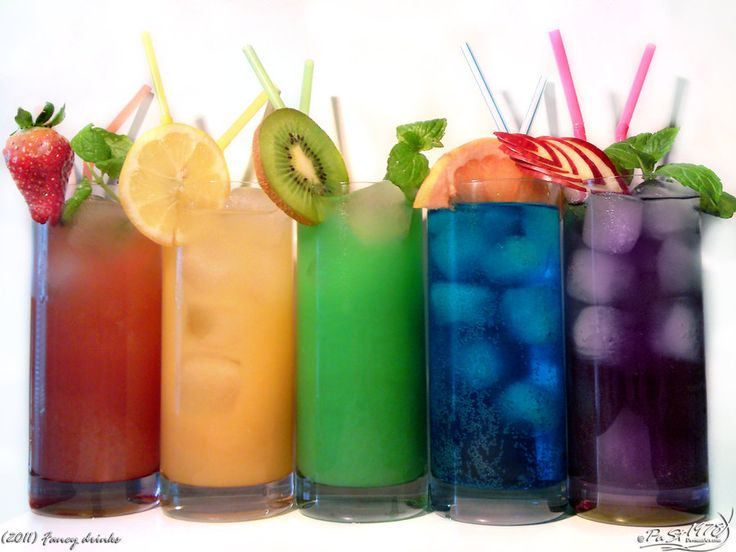 Fancy drinks!!! (links with how to make each one).Rainbow Drink, Summer Drinks, Food, Parties Drinks, Fruit Drinks, Colors Drinks, Cocktails, Fruity Drinks, Rainbows Drinks