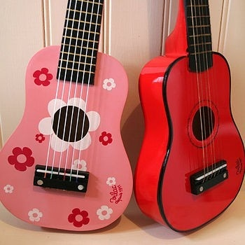 wooden toy guitars