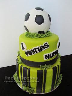 Doces Opções: Bolo de aniversário futebol