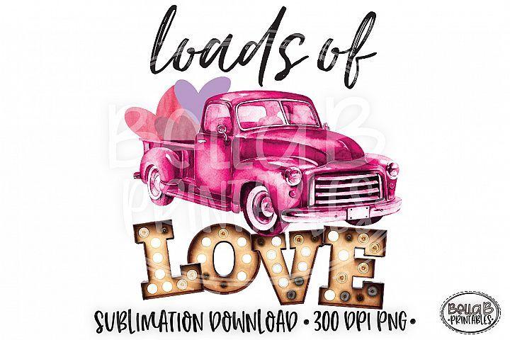 Download Valentine's Sublimation Design, Loads Of Love, Vintage ...