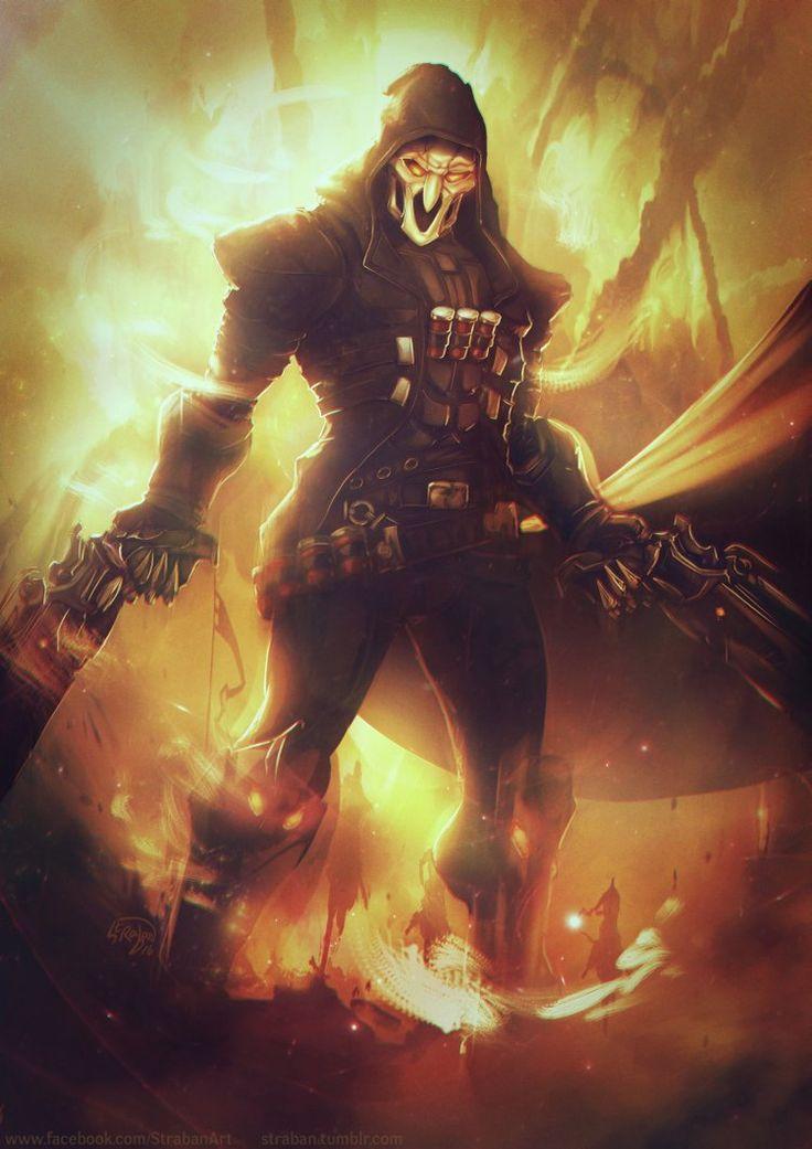Reaper fanart  Overwatch / Blizzard