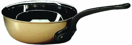 Matfer Bourgeat COPPER FLARED SAUTE PAN WITHOUT LID 7 7/8' ** New and awesome product awaits you, Read it now  : Saute Pans