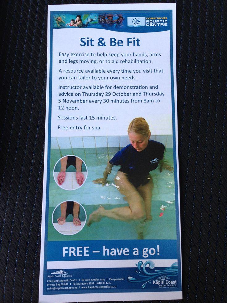 Sit and be Fit classes starting at Coastlands Aquatic Centre