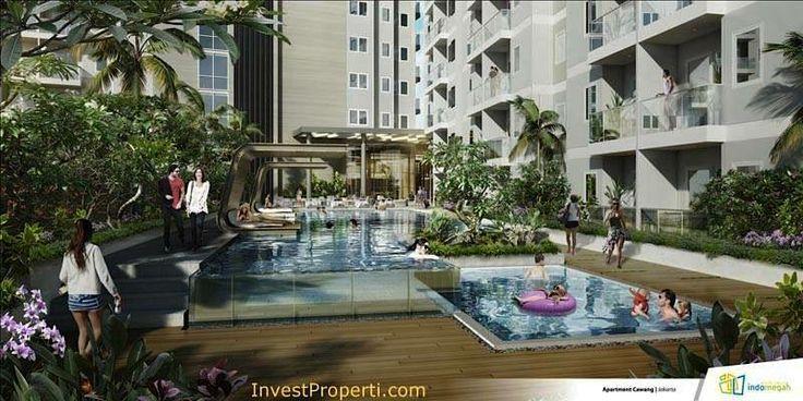 Kolam renang apartemen Skyline Residence Cawang.