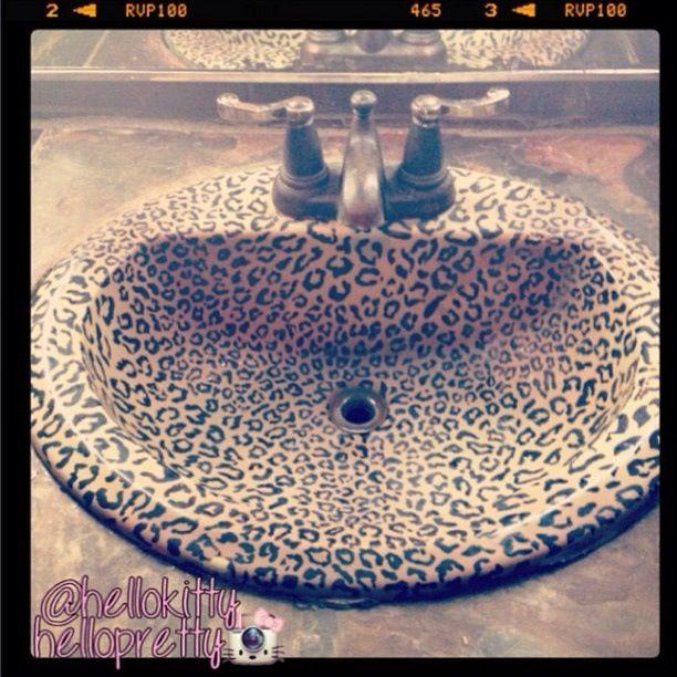 Print Animal Prints Bathrooms Bathroom Sinks Ideas Leopard Decor Home Design
