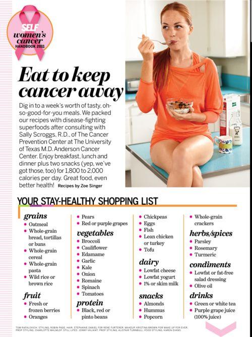 Food to keep cancer away