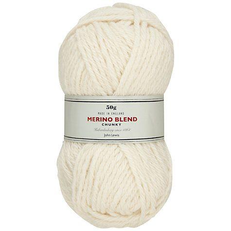 Buy John Lewis Heritage Merino Blend Chunky Yarn, 50g Online at johnlewis.com