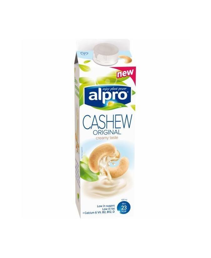 Alpro Kesudióital 1 l Tejpótlók Kompromisszumos termék, 2% hozzáadott cukrot és trikálcium foszfátot tartalmaz. Kesudió ital hozzáadott kalciummal és vitaminokkal.
