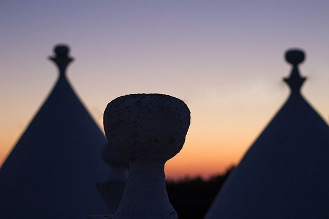 trulli typical houses in Apulia, South Italy