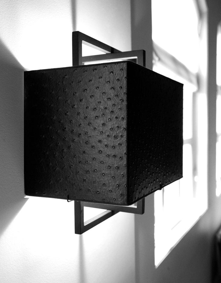 black ostrich and metal wall lamp | Layer Frame Wall I | Layer by Adje