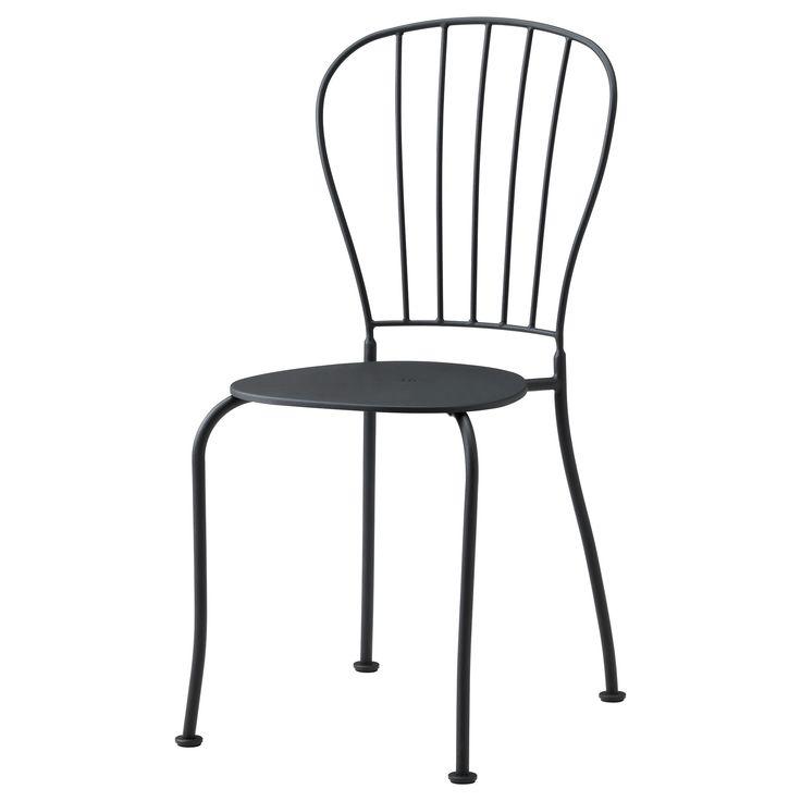 LÄCKÖ Chair - gray - IKEA $30 - slightly more comfortable looking...