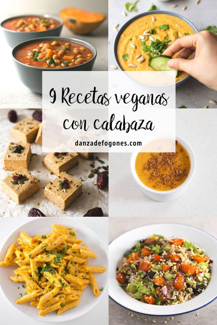 9 recetas veganas con calabaza. La calabaza está en temporada y hay mil recetas distintas que podemos preparar: saladas, dulces o incluso hasta bebidas.