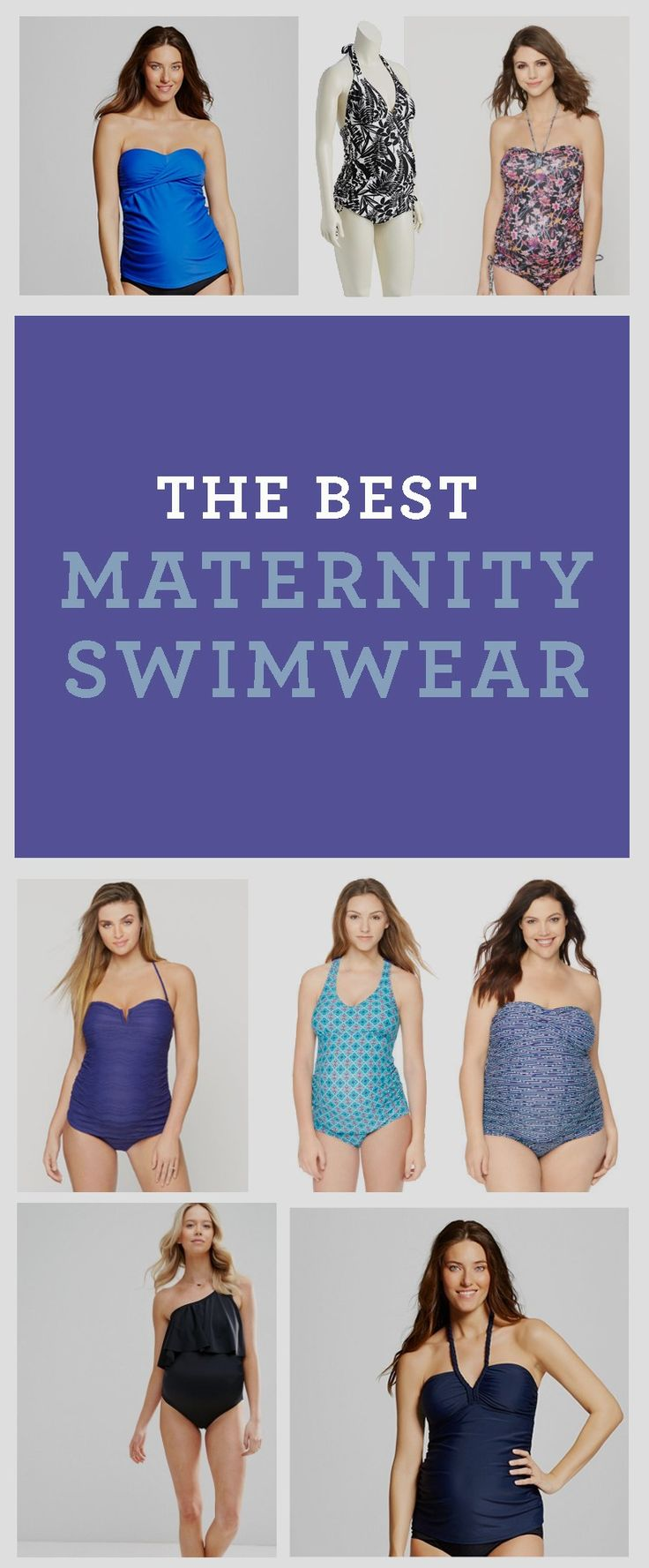 Click through for all the best maternity swimsuits! Don't make the same mistake I made and assume that because a bathing suit stretches it will fit your pregnant body. You might have to be cut out of it with the jaws of life. Gets something fun that feels great, too!