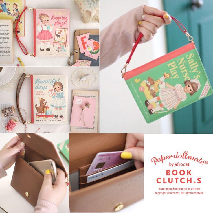 Afrocat Paper Doll Mate New Book Clutch S Strap Pouch Purse Wallet Travel Bag  #Afrocat #Clutch
