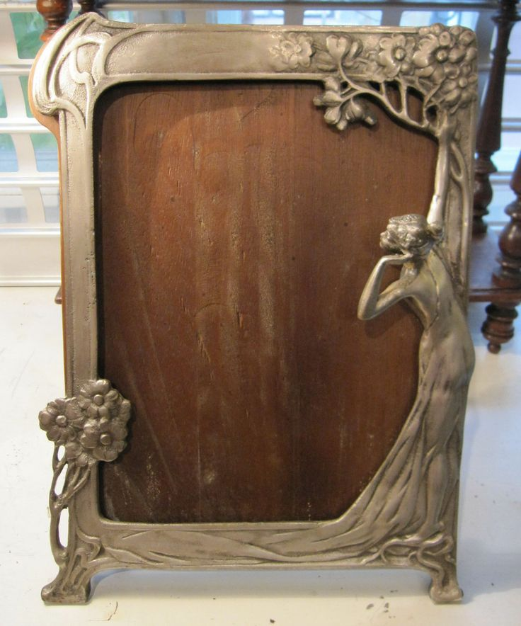 Details about large art nouveau table mirror or picture for Mirror 80 x 50
