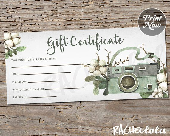 Printable Photography Gift Certificate Template Spring Photo Etsy In 2021 Photography Gift Certificate Template Photography Gift Certificate Gift Certificate Template