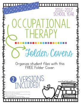 Back to School Folder Covers - Occupational Therapy