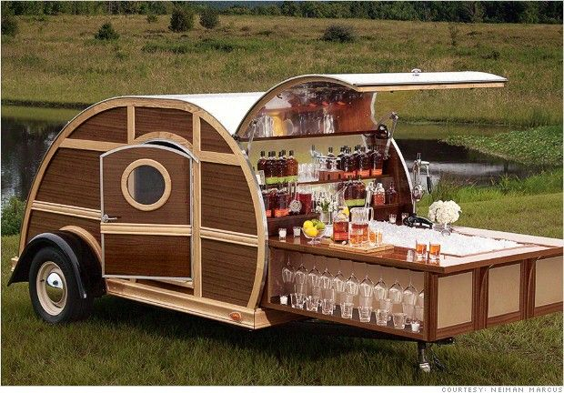 The Ultimate Tailgater must have the Bulleit Woody Tailgate Trailer. Available in the Neiman Marcus Christmas Book 2012.