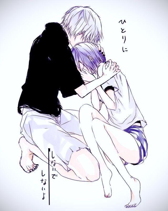 Kaneki & Touka (I slightly edited it...made it brighter/more colorful) ^^