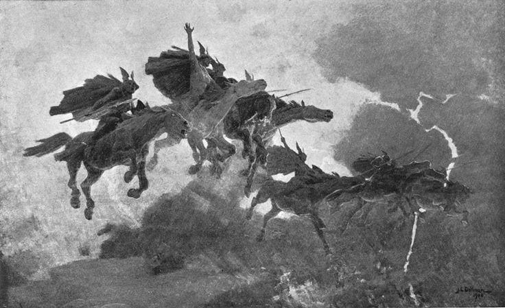 The Ride of the Valkyrs, John Charles Dollman - Guerber, H. A. (Hélène Adeline) (1909). Myths of the Norsemen from the Eddas and Sagas. London : Harrap.