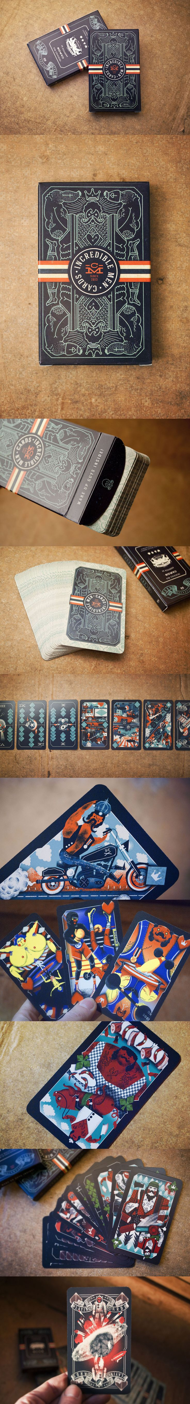 Illustrated Playing Cards - The illustration is nice - but I really like the colour scheme for this - L