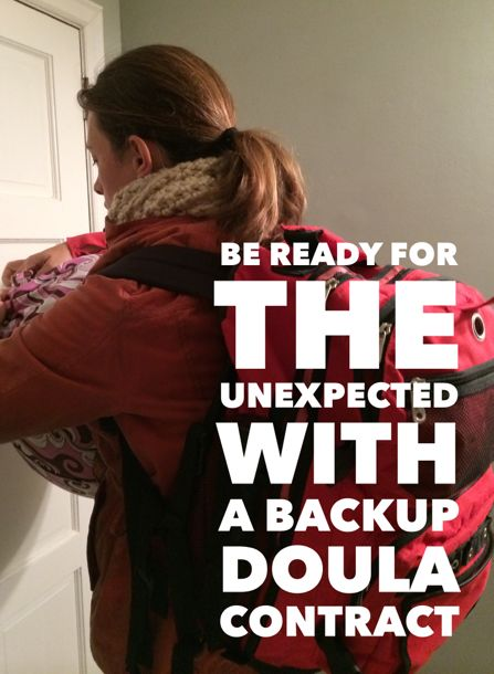 It is important have a Doula Backup setup in case you have two clients in labor at the same time or you are sick. With this contract you can define that relationship and be ready.