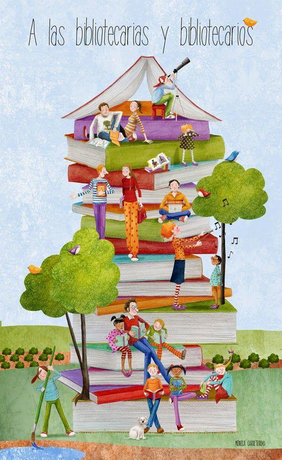Cuaderno de viaje: A las bibliotecarias y bibliotecarios, con todo mi cariño. // Mónica Carretero.