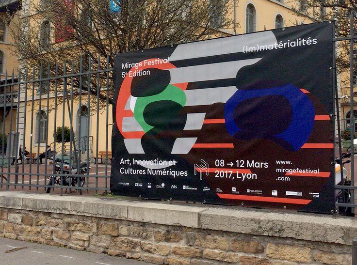 Signaletique mirage festival lyon graphics