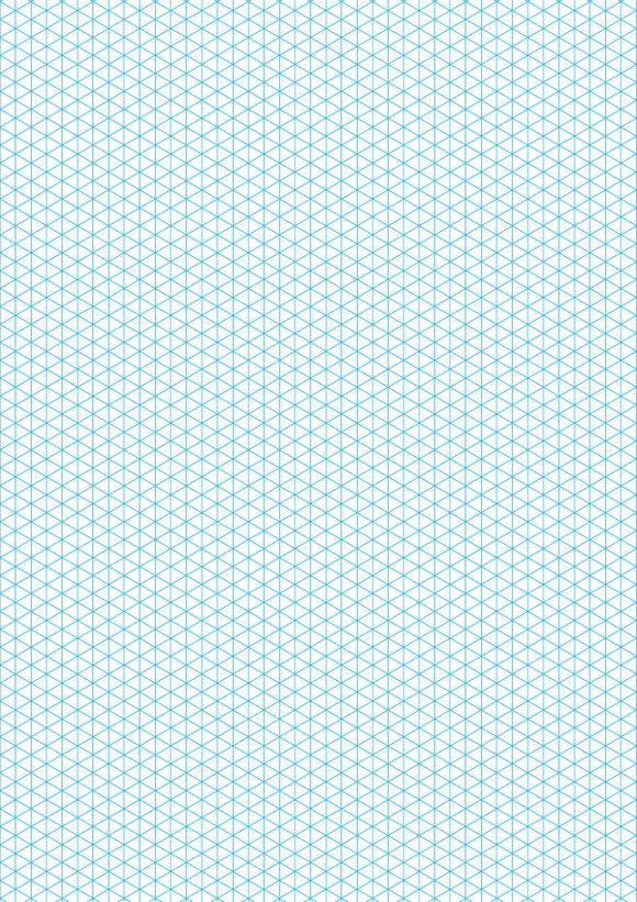 Cyan isometric grid on a4 sheet | Patterns | Pinterest ...