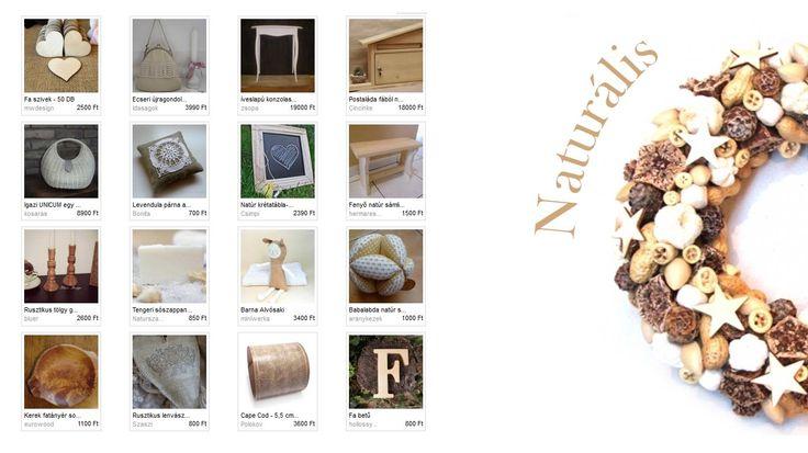 Natúr színek egyszerűségével nyűgöz le minket Nanuska szemezgetője. Illusztráció: Zoldeszti- Bézs vintage terméskoszorú  http://www.meska.hu/ProductView/index/615846