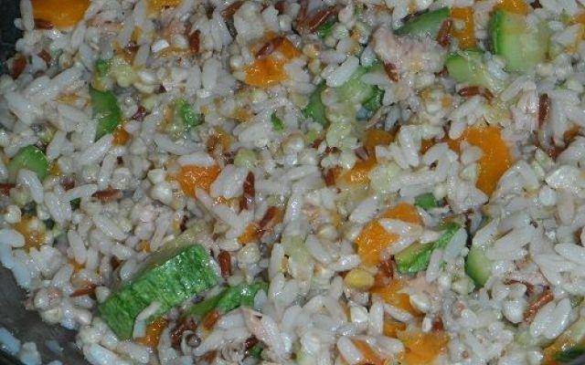 ricetta misto riso e grano saraceno con verdure lesse #riso #granosaraceno #ricetta #alimentazion