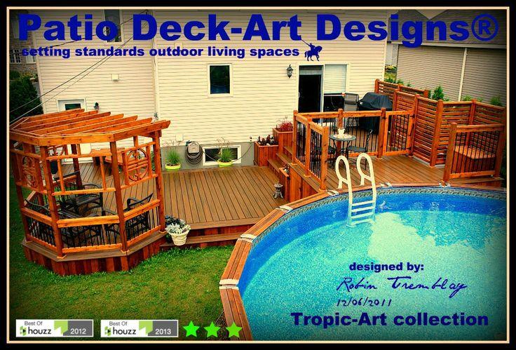 Patio piscine hors terre Patio Deck-Art Designs®