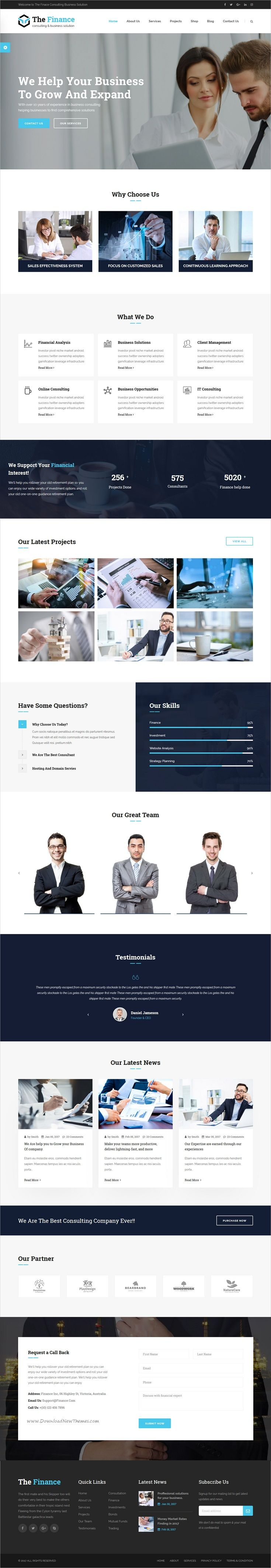 The finance is clean and modern design 3in1 responsive #HTML template for #business consulting and #professional service website download now > https://themeforest.net/item/the-finance-business-consulting-and-professional-services-html-template/19956712?ref=Datasata